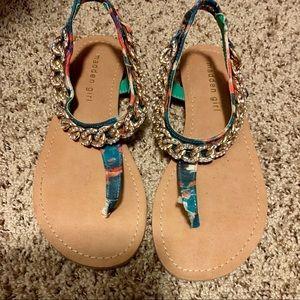 Steve Madden Girl multi colored embellished sandal